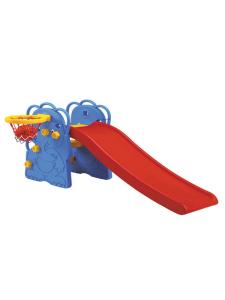 Детская пластиковая горка Слон с баскетбольным кольцом