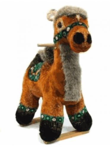 Детская мягкая качалка Верблюд