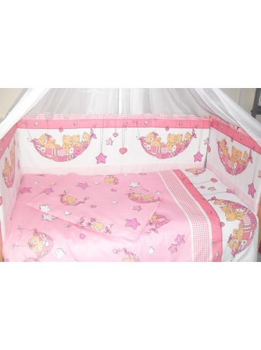Детский постельный комплект в кроватку Мишка в гамаке 6 предметов
