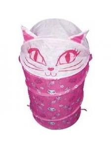 Корзина для игрушек Кошка розовая