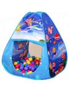 Игровой домик ОКЕАН (треугольник) с мячиками 100 шт.