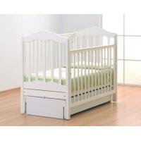 Детская деревянная кроватка Анастасия маятник белый Gandylyan