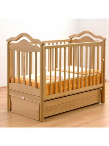 Детская деревянная кроватка Анжелика маятник Gandylyan
