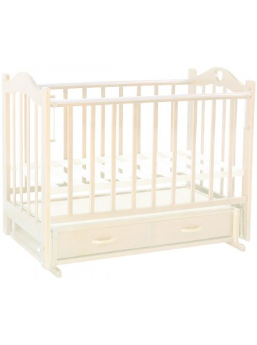 Детская деревянная кроватка Лана 3 маятник ящик сердечко