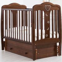 Детская деревянная кроватка Мишель маятник Gandylyan