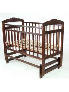 Детская деревянная кроватка Ника маятник без ящика