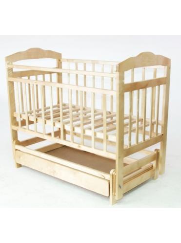 Детская деревянная кроватка Ника маятник c ящиком