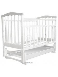Детская деревянная кроватка ЗОЛУШКА - 4 М (белая или слоновая кость)