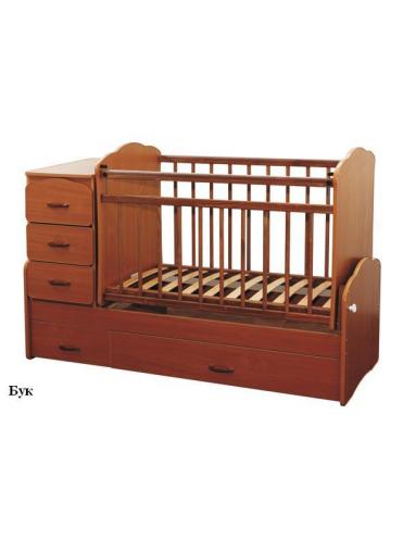 Детская кровать трансформер с маятником СКВ-9