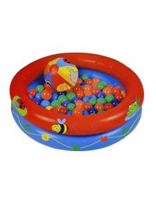 Сухой надувной бассейн Два круга + 50 шаров