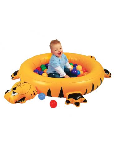 Сухой надувной бассейн Тигренок + 50 шаров