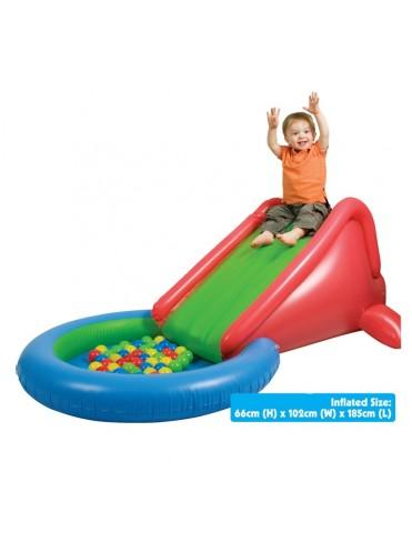 Сухой надувной бассейн Upright Надувная горка + 50 шаров