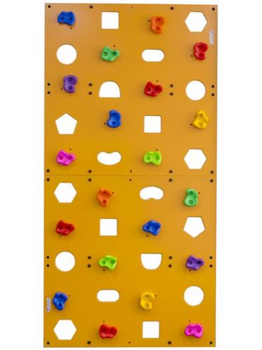 Детский скалодром пристенный (1000*2000) стандарт ЭЛЬБРУС с отверстиями