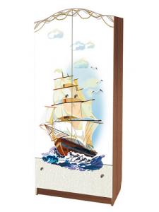 Детский шкаф для детской одежды Морской