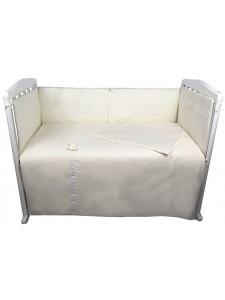 Комплект белья в кроватку Bambola Мамина радость сатин-жаккард+кружево 6 пр