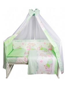 Комплект белья в кроватку Bambola Сладких снов поплин 7 пр