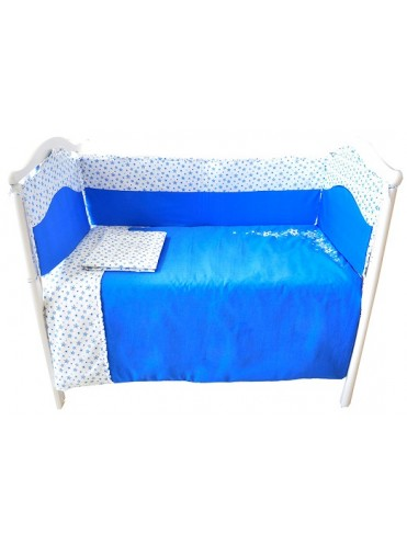 Комплект белья в кроватку Bambola Волшебная ночь сатин 6 пр + матрасик Гнездышко в подарок
