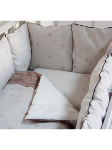 Комплект белья в кроватку Bytwinz Лилии 6 предметов
