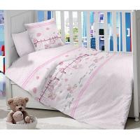 Комплект постельного белья Masterson Bear Rose Satin 7 предметов