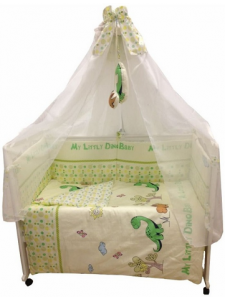 Комплект постельного белья Masterson Dino Satin 7 предметов