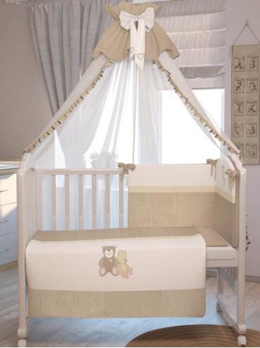 Комплект в кроватку Polini Плюшевые мишки 7 предметов