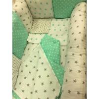 Комплект постельного белья в кроватку с валиком