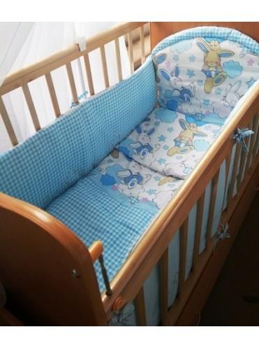 Комплект в детскую кроватку Зайка 7 предметов