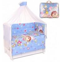 Комплект в кроватку Lider Kids Цветочный Зоопарк 7 предметов