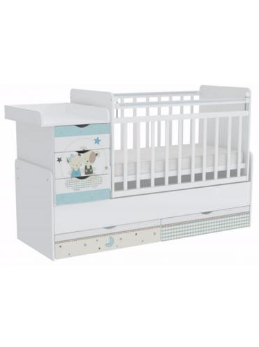Кровать-трансформер детская Фея 1150 Белый