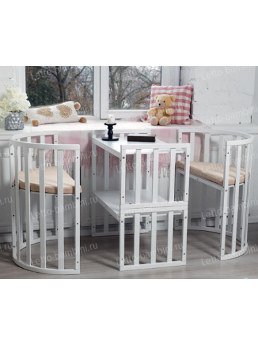 Кроватка-трансформер 8 в 1 Letto Bambini Elegante