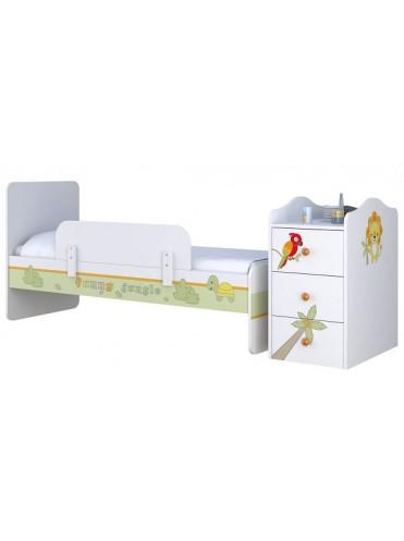 Кровать-трансформер Polini Basic с комодом 0001185