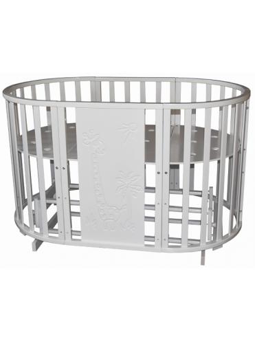 Кровать Северянка 3 Жираф 6 в 1 поперечный маятник/колесо