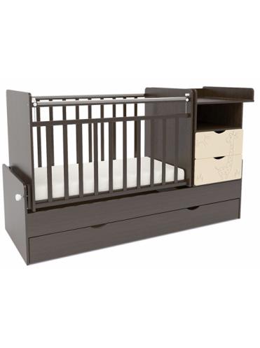 Детская кровать-трансформер СКВ-5 Жираф маятник