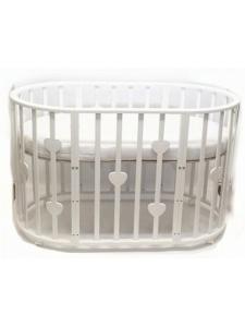 Кроватка-трансформер Малютка Сердечки 6 в 1