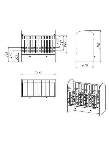 Кроватка детская Фея 700