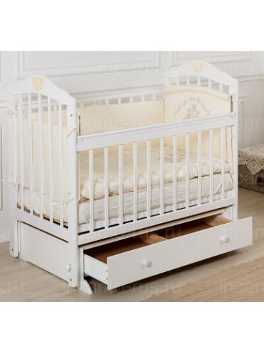 Кровать Incanto Pali с мишкой (ящик+универсальный маятник)