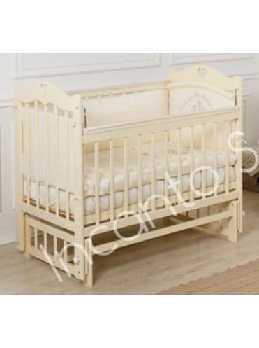Кроватка Incanto Sofi с сердечком (поперечный маятник)