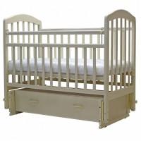 Детская деревянная кроватка ЛИРА-7 универсальный маятник с ящиком