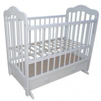Детская кровать Мой малыш 03 маятник поперечный с ящиком и накладкой