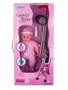 Кукольная коляска+кукла Fel Li Toys FL8108-C