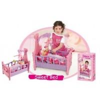 Кукольная кроватка с музыкальным мобилем XIONG CHENG 008-10