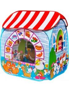 Детская палатка Дом + 100 шаров CHING-CHING Сладкий остров (квадрат)