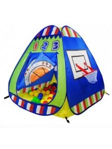 Детская палатка Дом + 100 шаров Calida Баскетбол