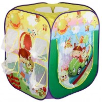 Детская палатка Дом + 100 шаров Calida Путешественники