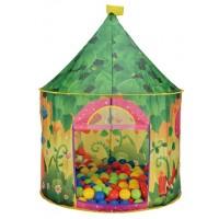 Детская палатка Дом + 100 шаров Calida Садовый