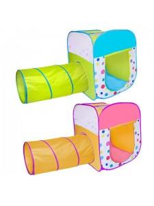 Детская палатка Дом + 100 шаров CHING-CHING КОНФЕТТИ (квадрат+туннель)