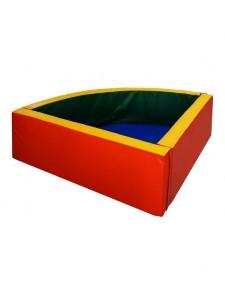 Сухой бассейн угловой, полукруглый
