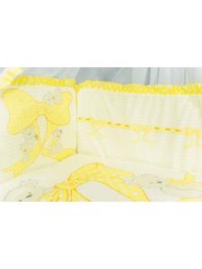 Бортики для детской кроватки Мишки на бантах 10100
