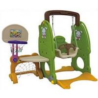 Детский комплекс QIAOQIAO Зайка столик+футбольные ворота+качели+баскетбольное кольцо