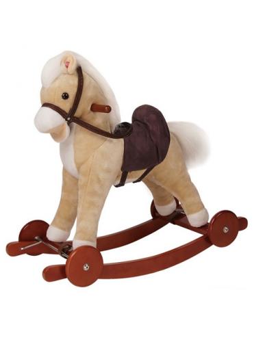 Детская мягкая качалка Пони на колесах GS1010W